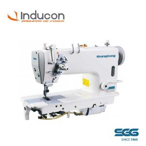 Foto de una máquina recta industrial doble aguja ShangGong modelo GC8720D